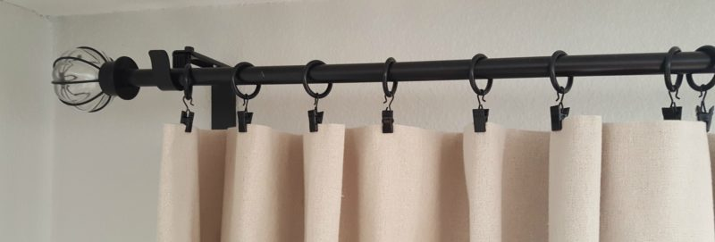 how to make no-sew drop cloth curtains five easy steps
