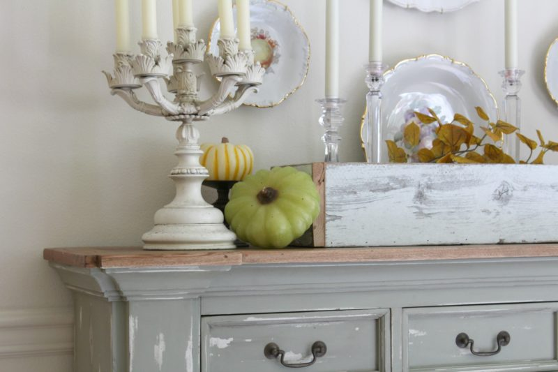 Dining room fall buffet table
