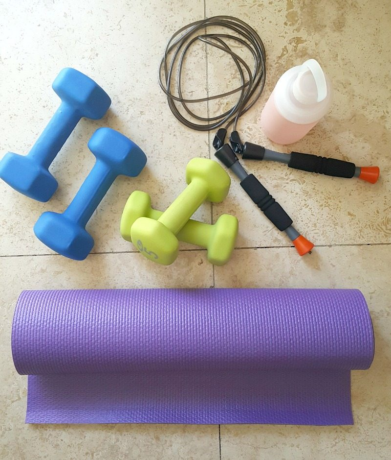 Favorite at-home workout:  inexpensive equipment makes working out at home easy