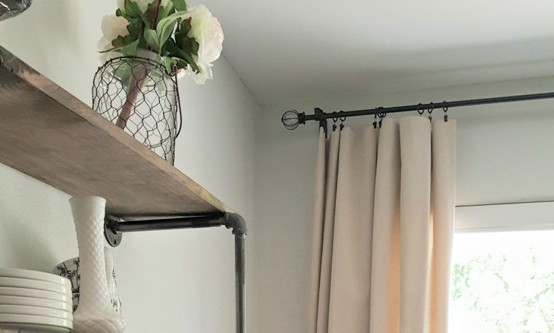 Budget-friendly decorating ideas: DIY drop cloth curtains