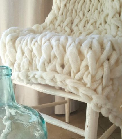 Luxurious and soft, chunky knit throws are the most popular decor accessory.