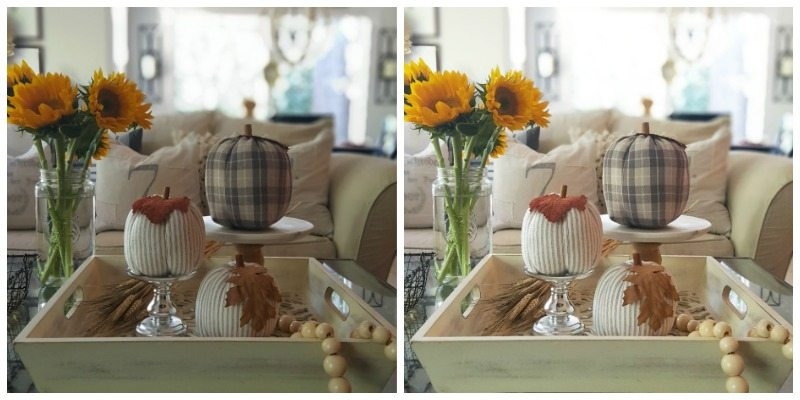 create brighter more beautiful photos in Instagram, fall flowers and fall decor table decor