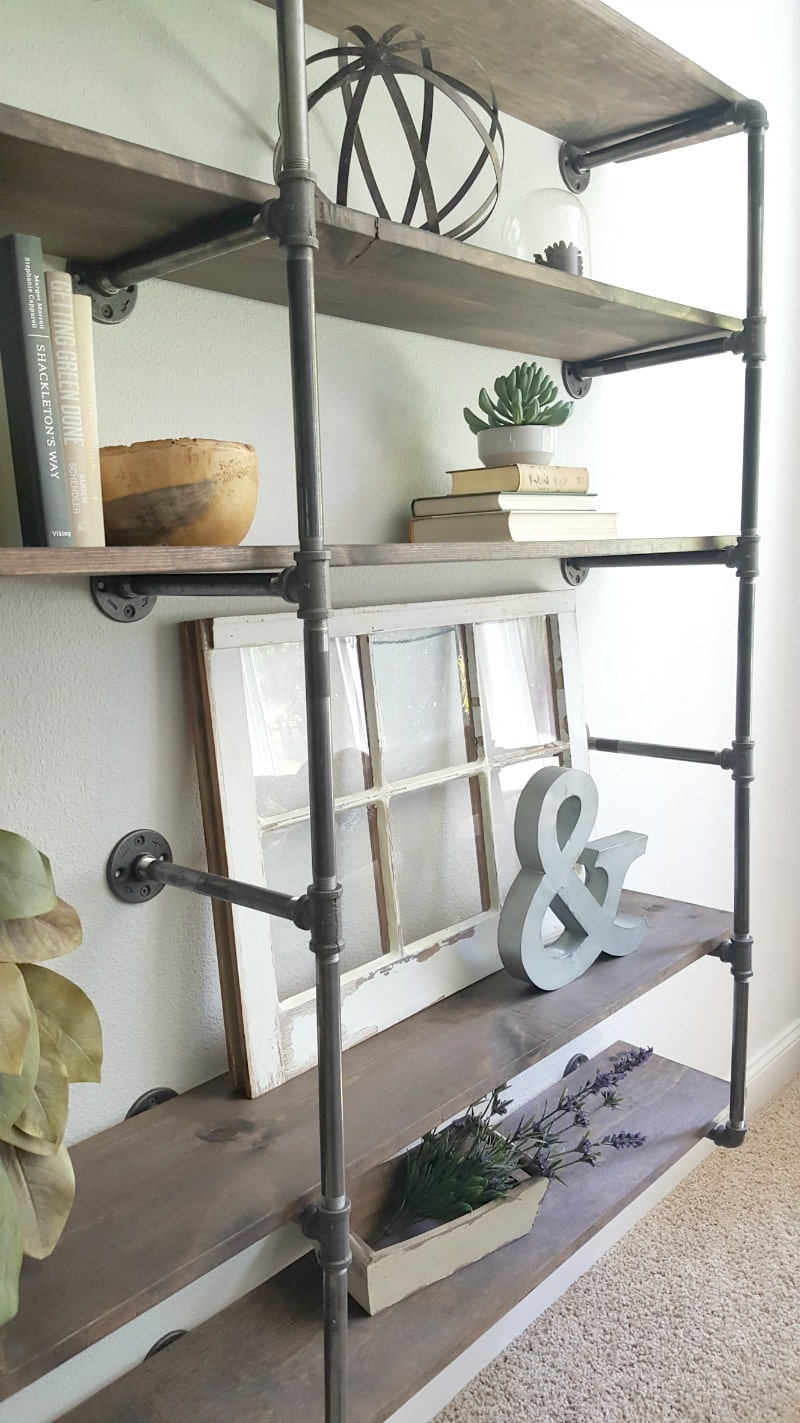 Build your own DIY pipe shelves