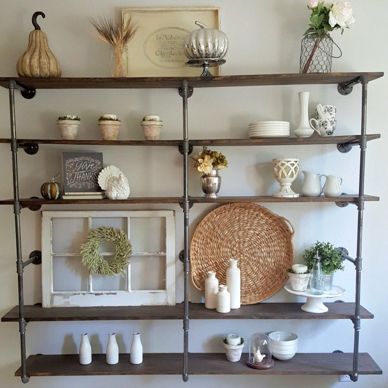 DIY Industrial Pipe Shelves for a urban rustic look