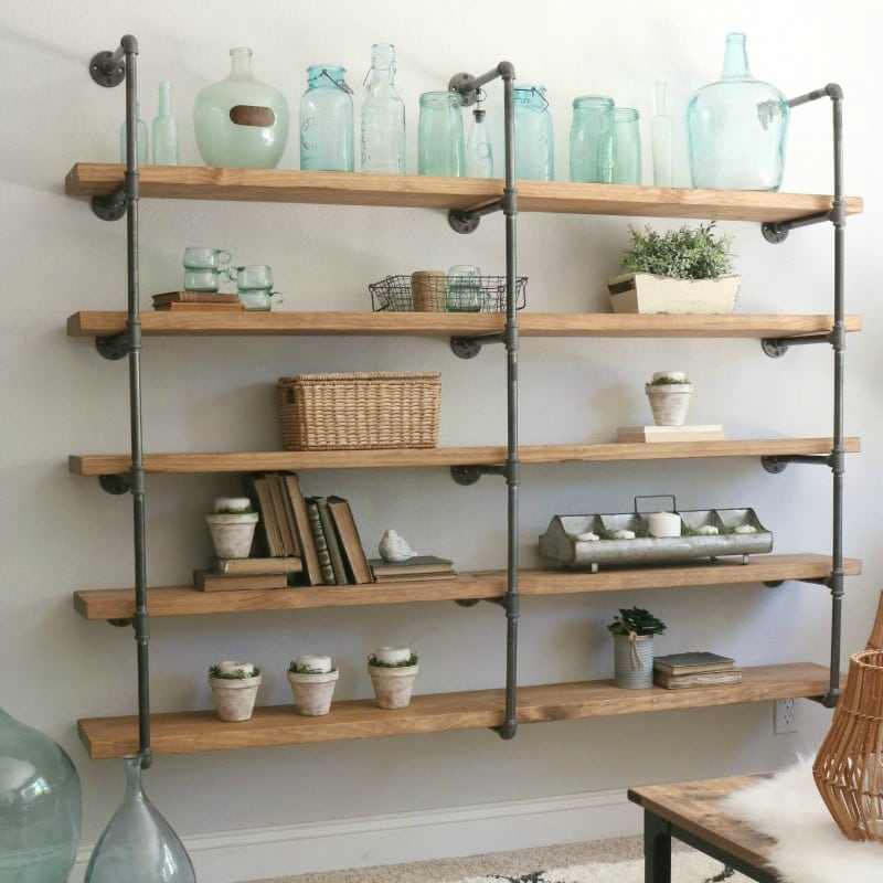 Do It Yourself Home Design: DIY Industrial Pipe Shelves