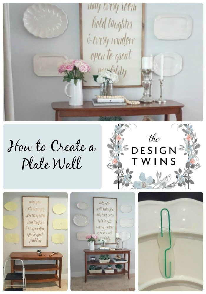 Sharing our easy How-to Guide to hang your first plate wall!