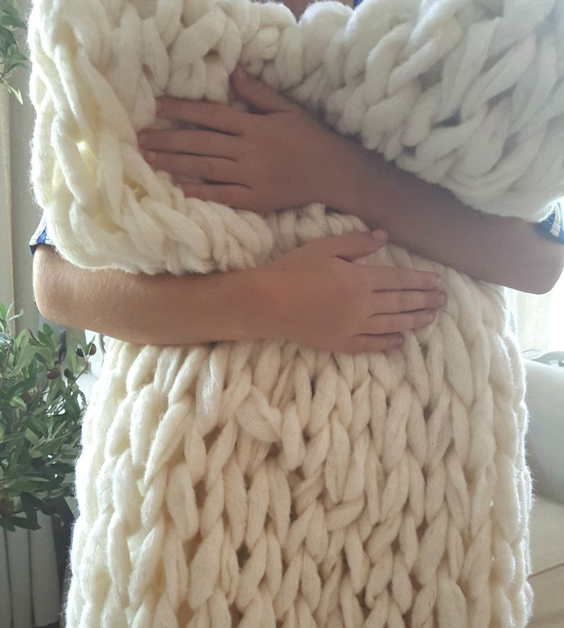 soft luxurious arm knit throw