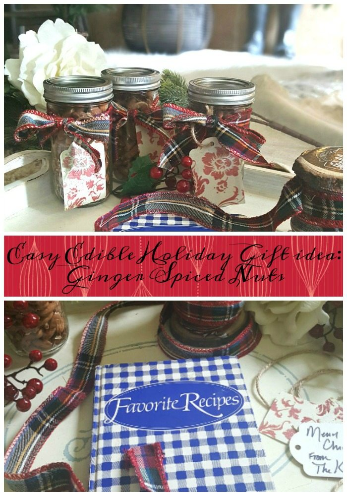 easy edible homemade holiday gift idea yummy ginger spiced nuts pin
