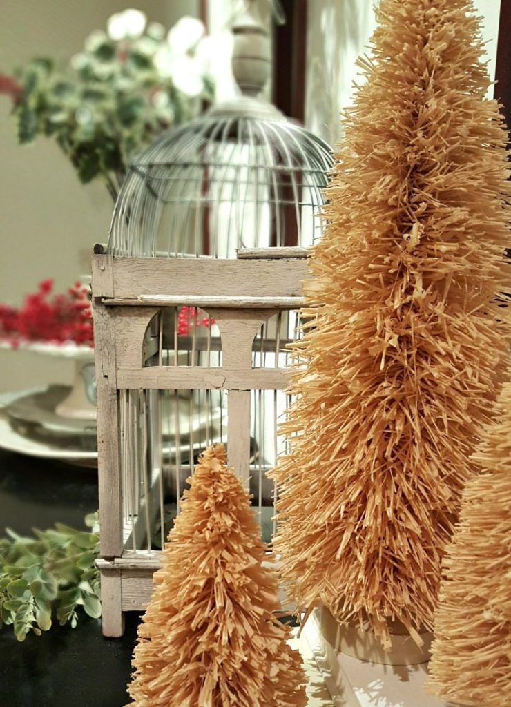 neutral and natural elements add texture to my inspired Christmas decor