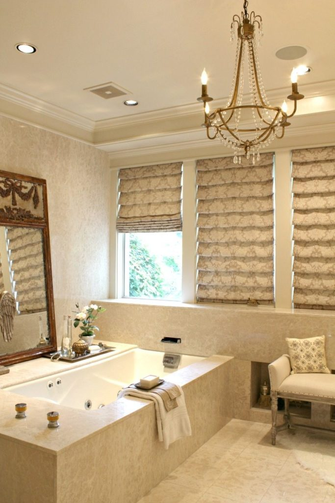 Luxury relaxing bathroom retreat to release stress