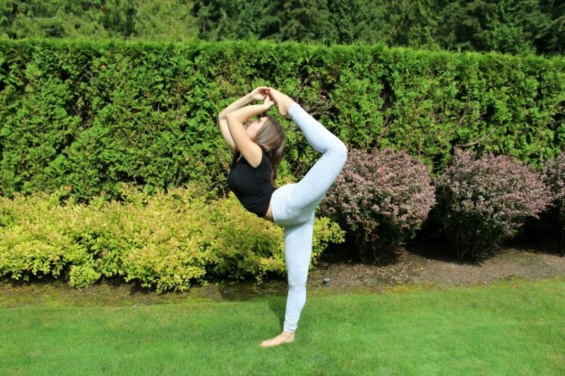 Yoga dancer pose is beautiful and challenging