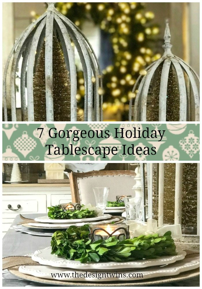 7 Gorgeous Holiday Tablescape Ideas pin