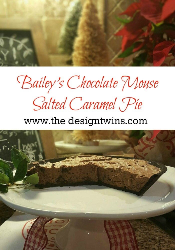 Decadent creamy Bailey's Chocolate Salted Caramel pie