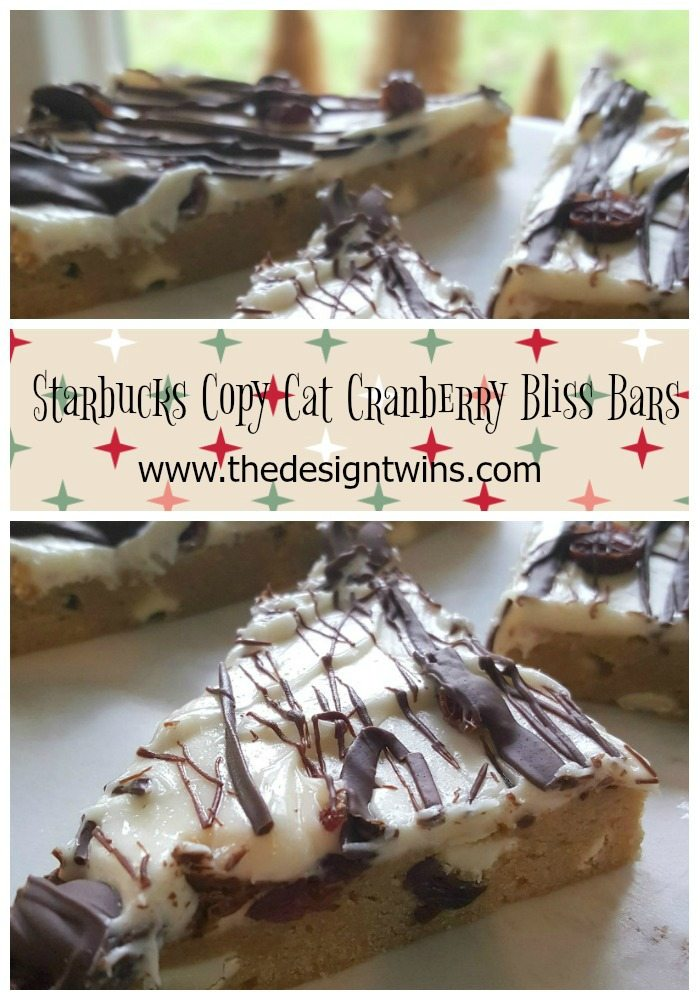 Starbucks Copy Cat Cranberry Bliss Bars pin