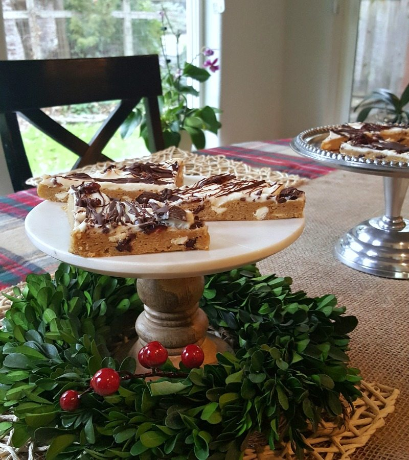 Starbucks Copy cat bars are beautiful and delicious as table centerpiece this holiday