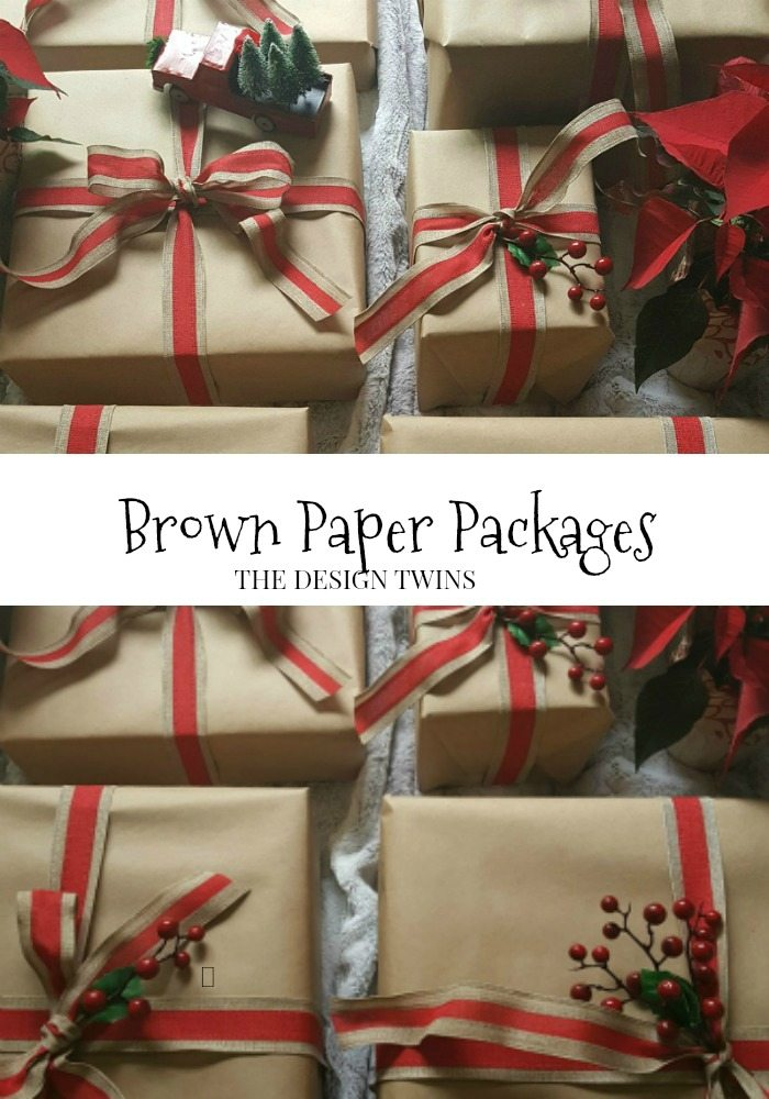 Brown Paper Packages diy christmas wrapping pin