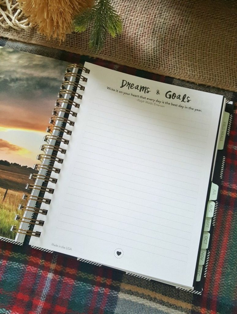 Write down short and long term goals for resolutions success