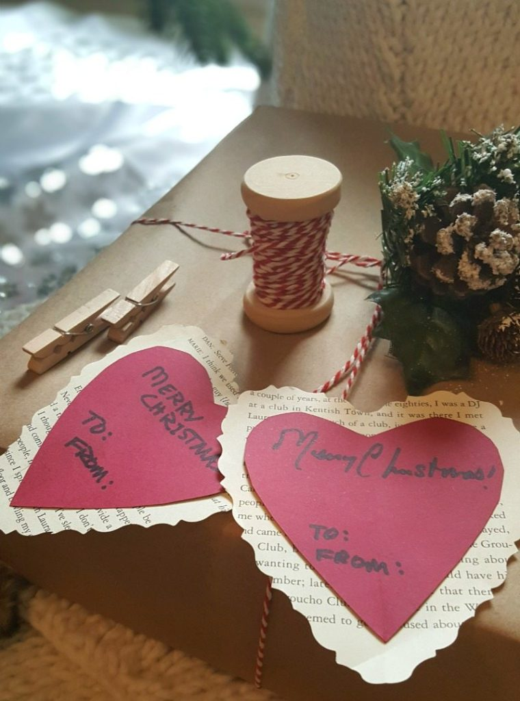 paper hearts for DIY tags