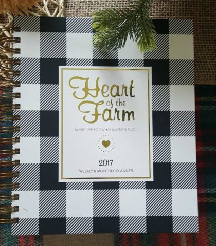 Organize your life with a Heart of the Farm Planner
