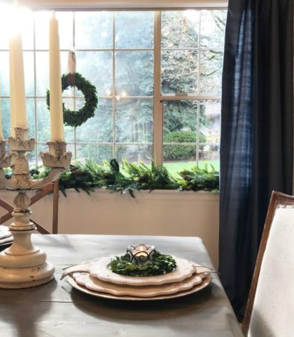 Antique elegance combined with farmhouse chic create a modern tablescape