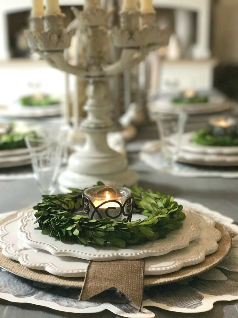 Antique details add elegance and charm to farmhouse tablescape
