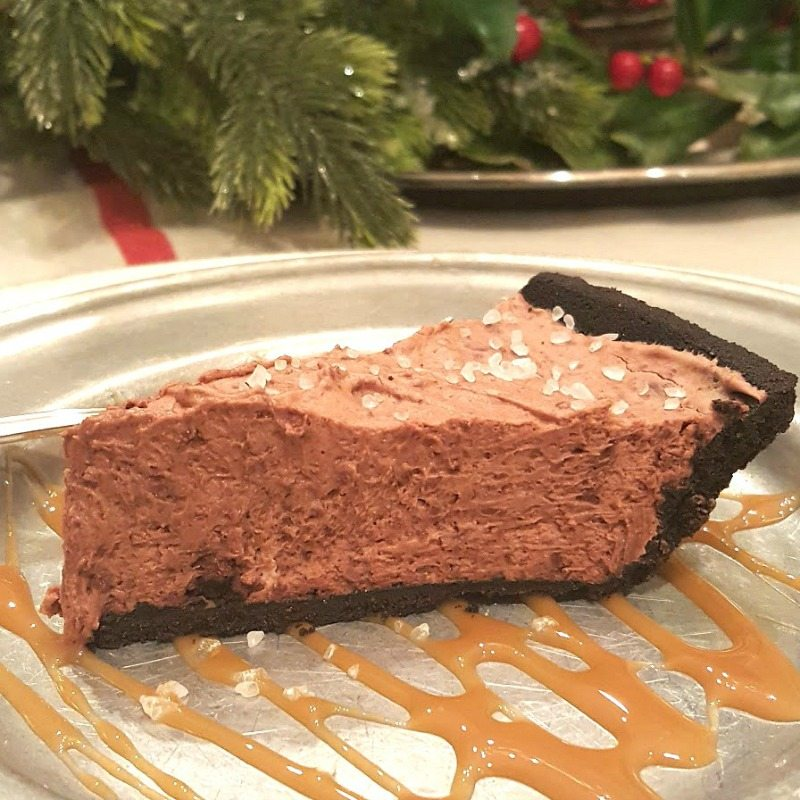 Bailey's Chocolate Mouse Salted Caramel Pie