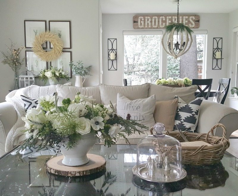 family room couch pillows and flowers pretty pictures