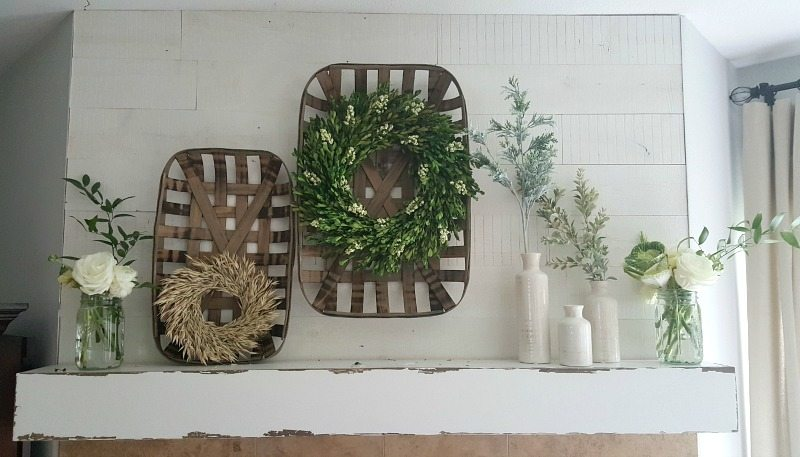 Fresh with flowers and neutral decor is clean and simple