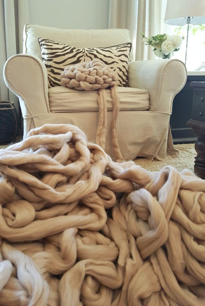 Luxurious merino wool for gorgeous chunky knit blankets