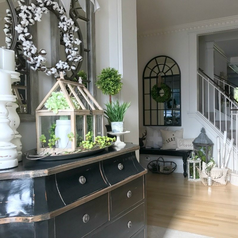 Front entryway decorating ideas the design twins diy for Home design inspiration blog
