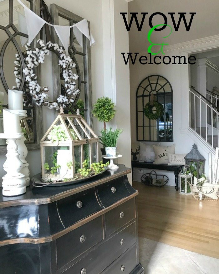 welcome front hall decor