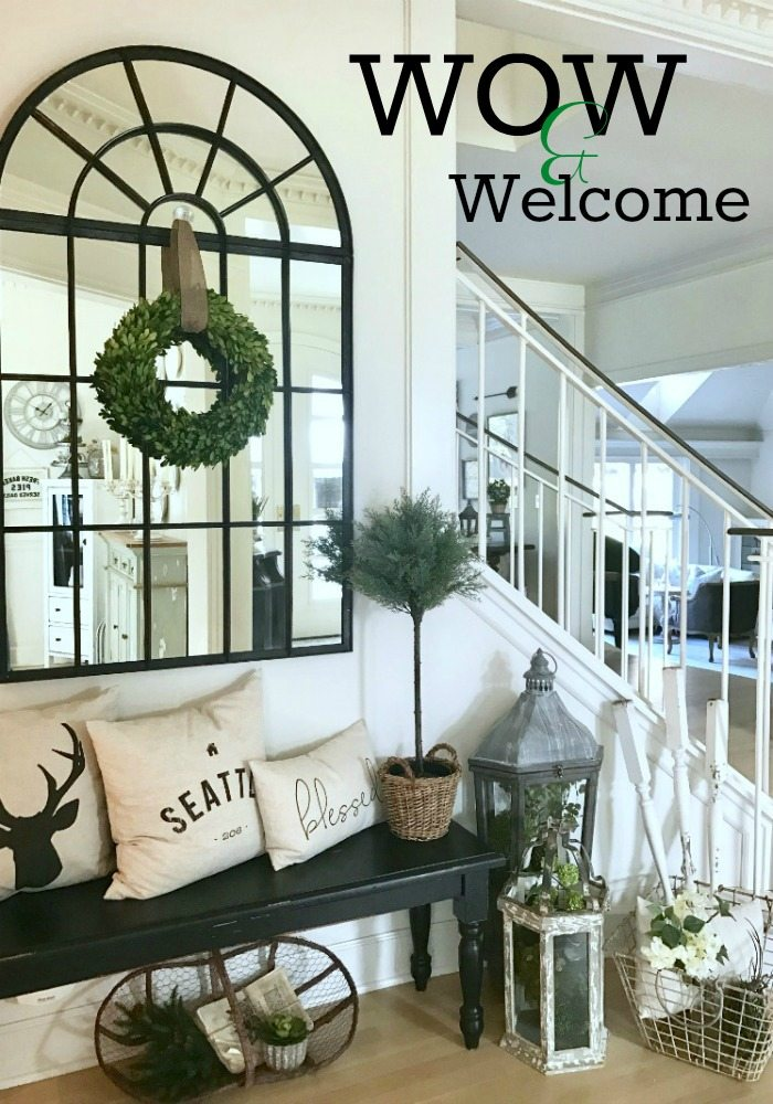 Front hall entryway decorating