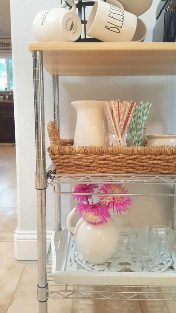 cute & functional coffee station cart