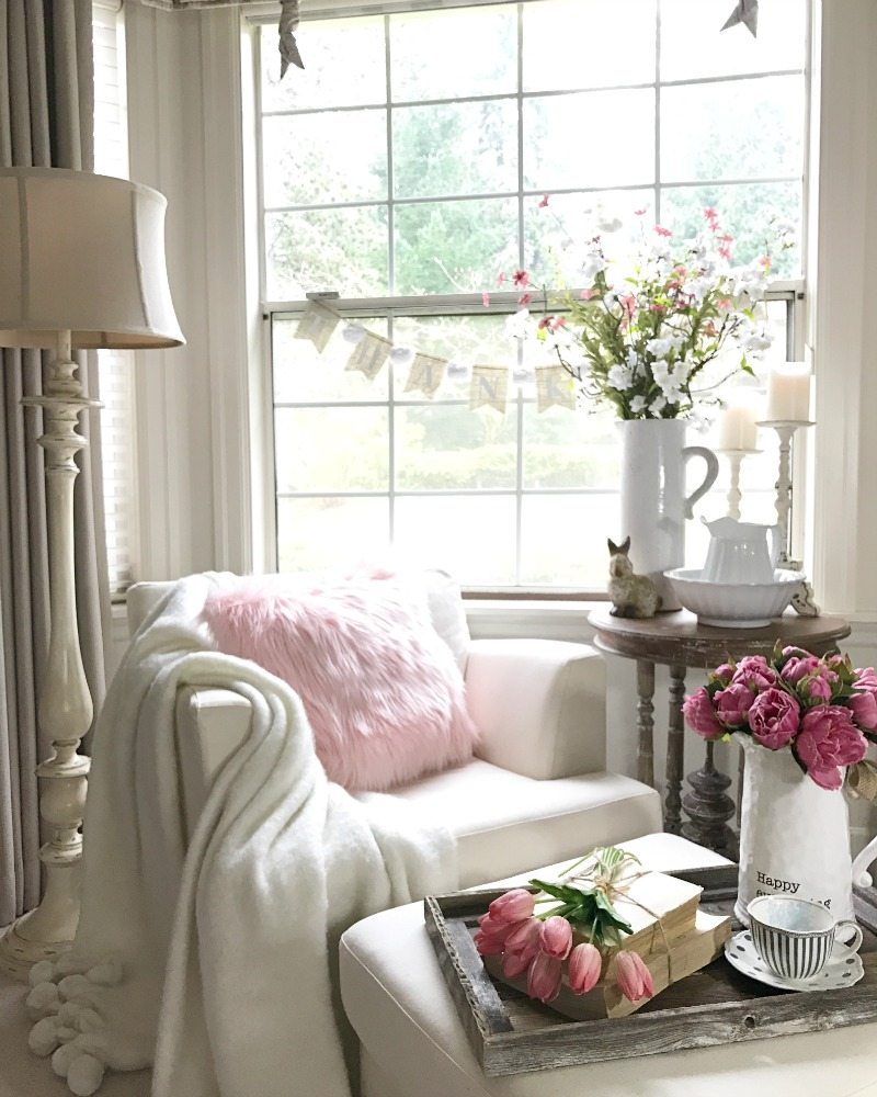 Faux flowers add beauty to any spring decor