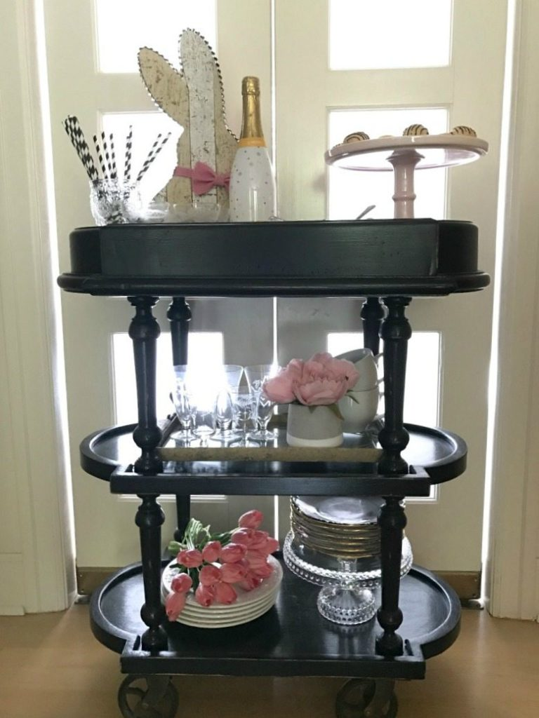Easter Tea Trolley & Bar Cart Styling