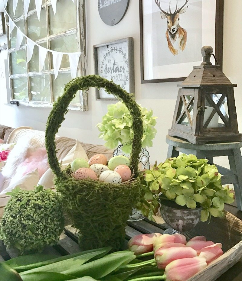 Create an indoor garden look for fresh spring decorating