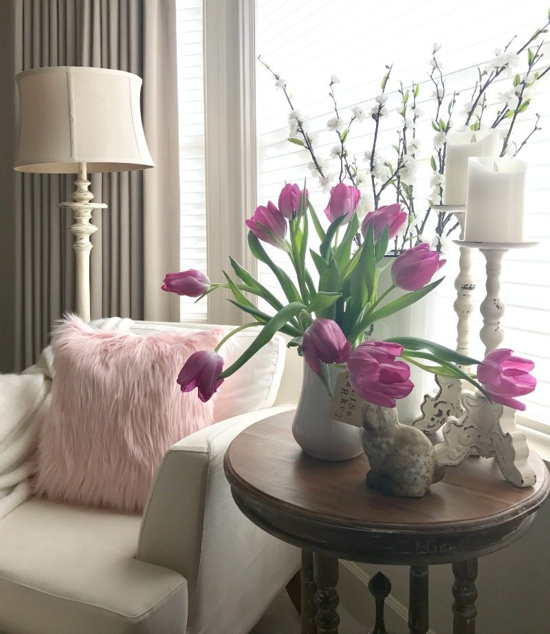 live your dreams, home decor inspiration pink tulips