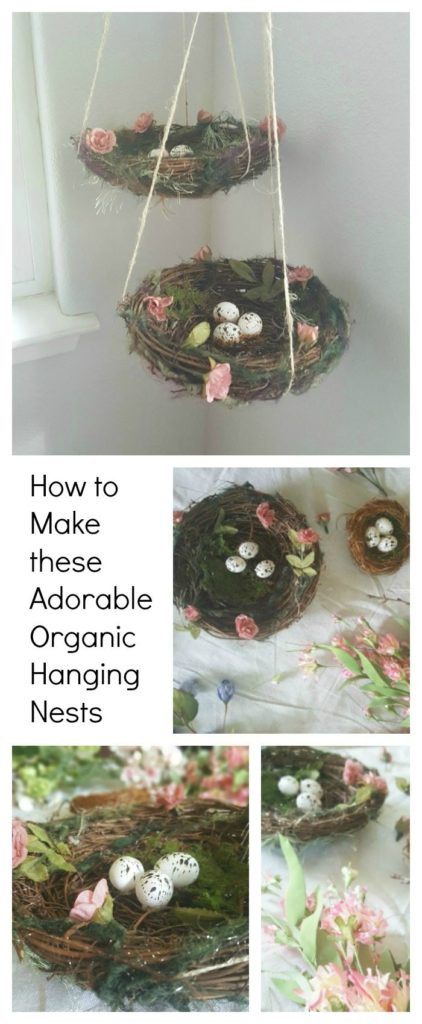 easy spring diy hanging nests