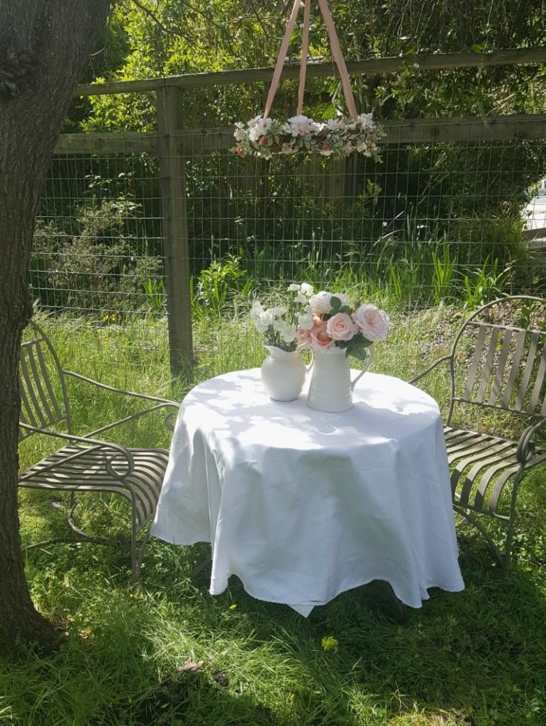 romantic floral hanging chandlier