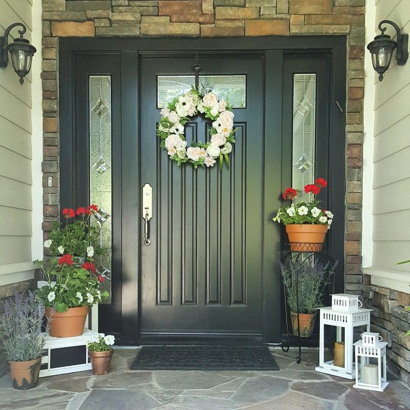 Floral Front Door Entryway