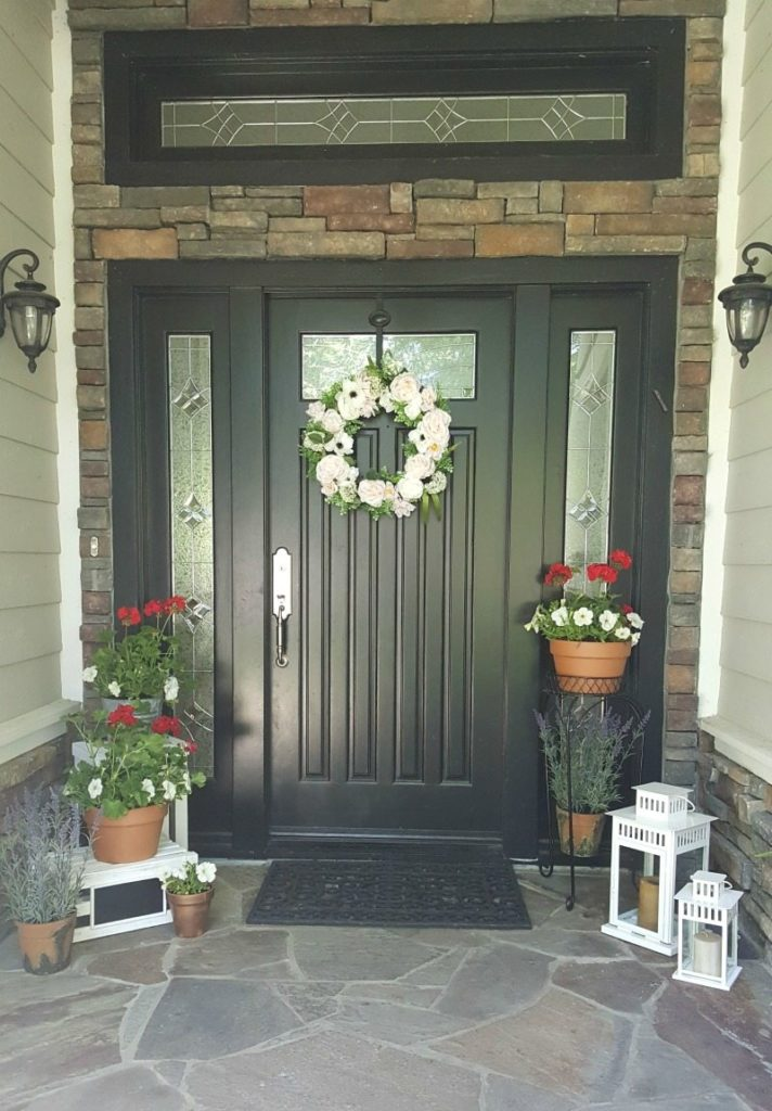 Inviting Springtime Entryway
