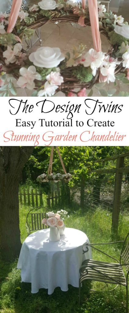 easy diy create enchanting garden chandelier