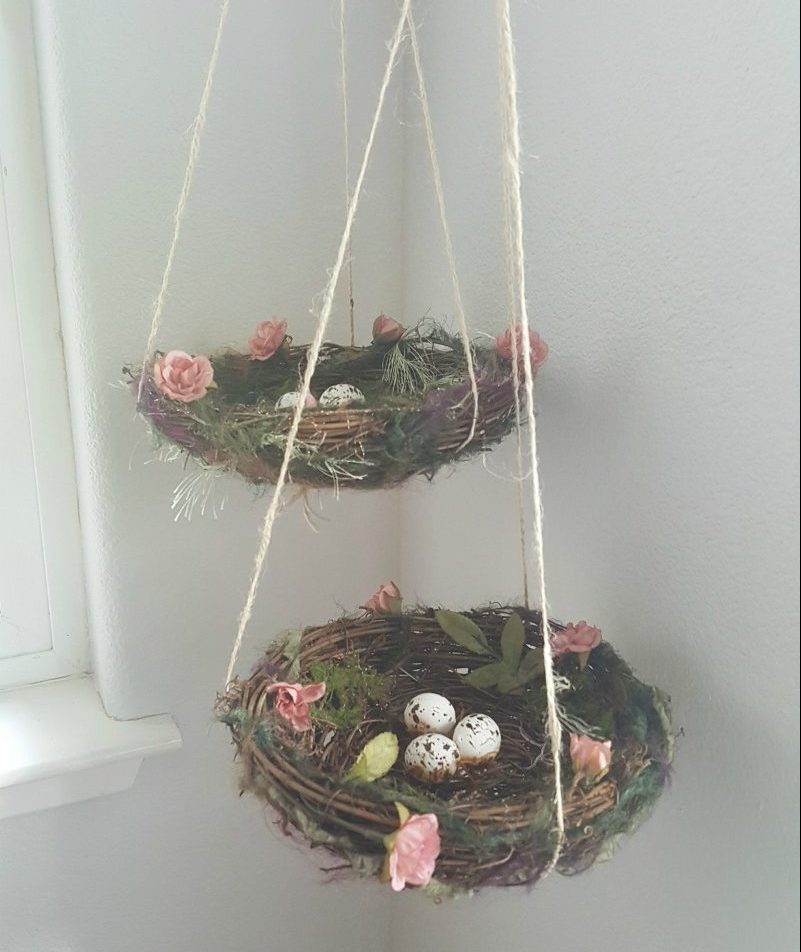 Spring Easter hanging nests