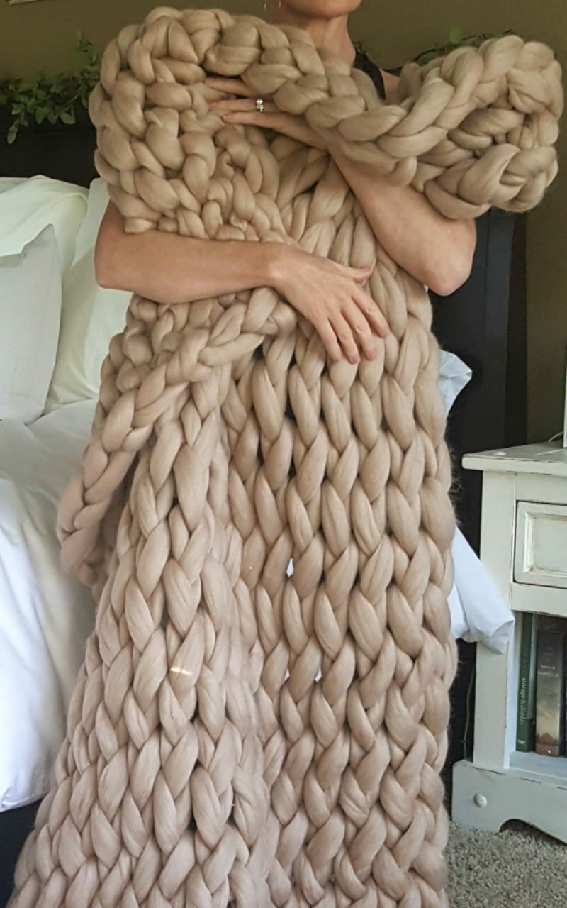 softest wool throw you can imagine