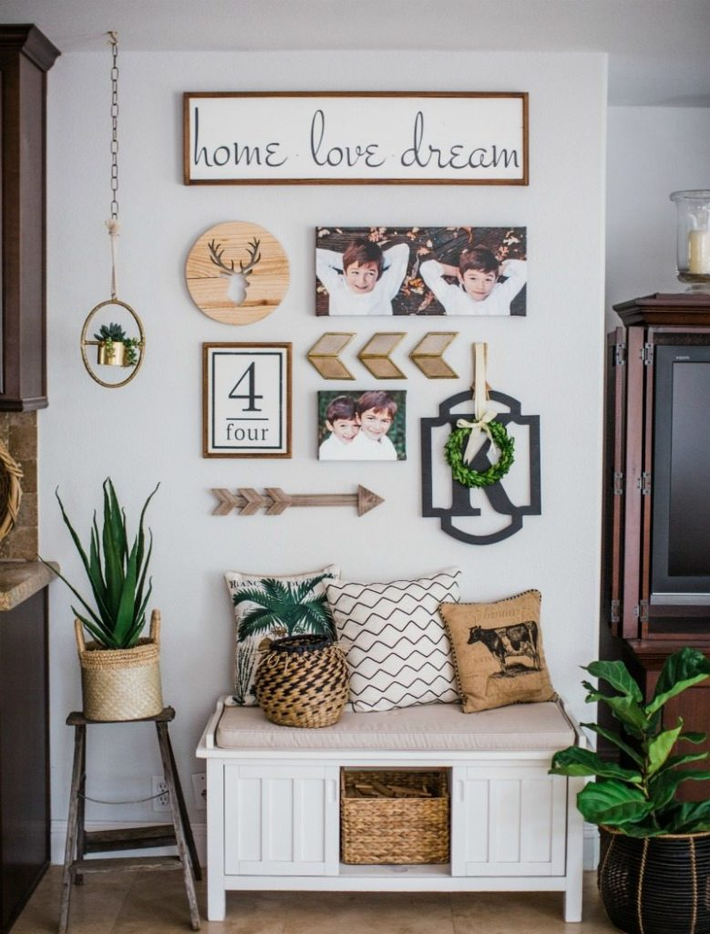 Farmhouse decor elements create interest in any decor