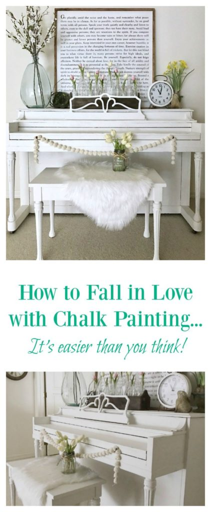 Furniture restoration with chalk paint