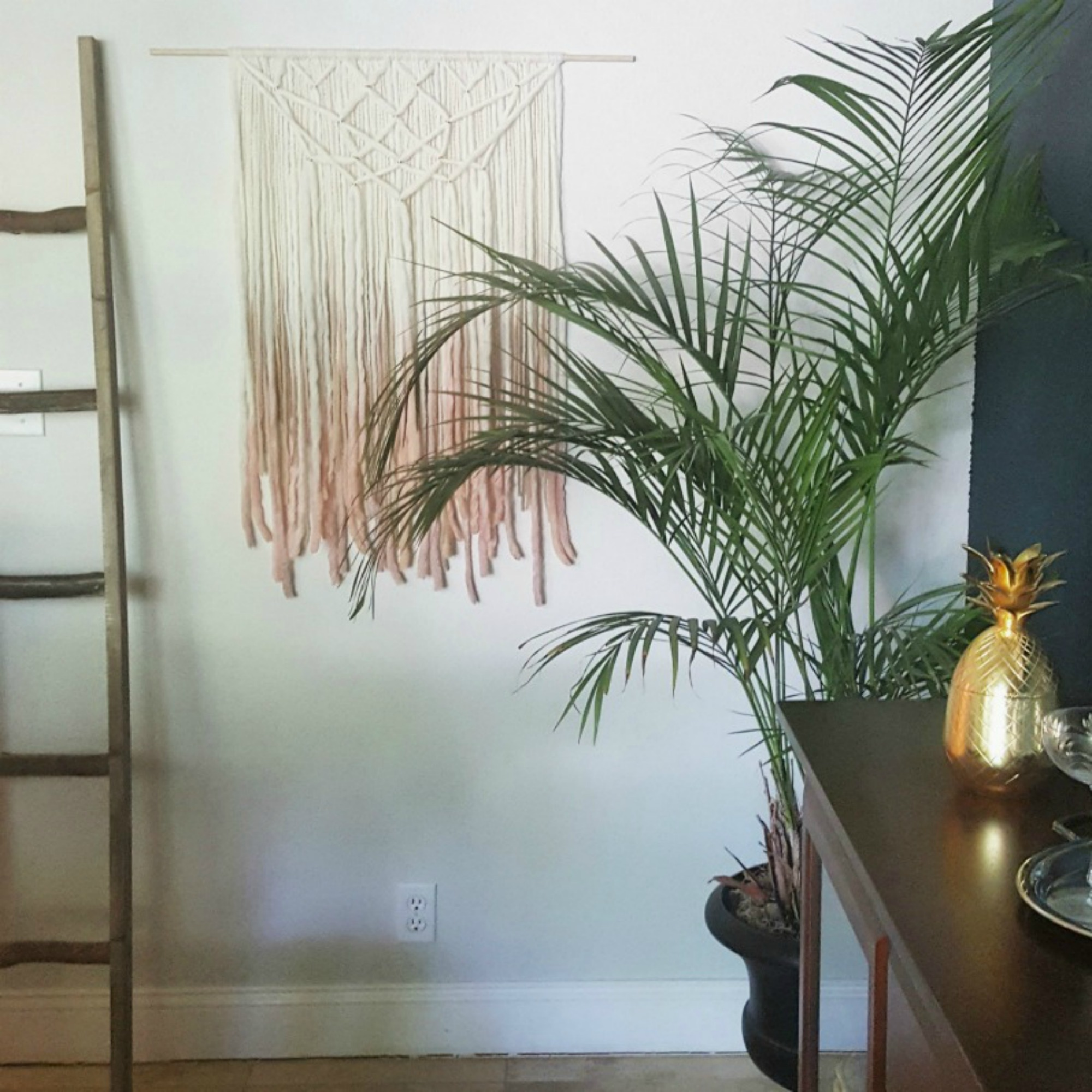 Fiber art and macrame for bohemian flare