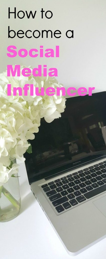How to become a Social Media Influencer pin