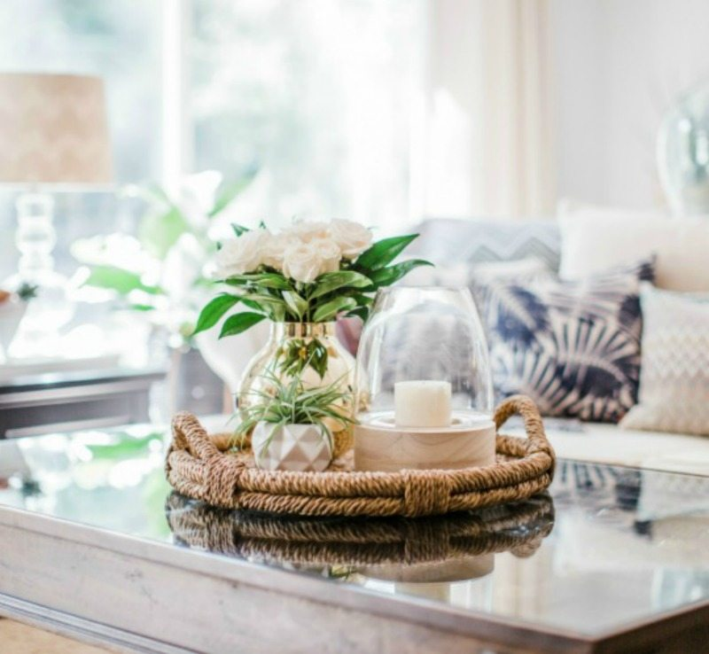 mix natural with glam for summertime decor