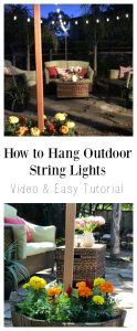 DIY outdoor string light project with video